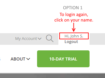 Login Here Again