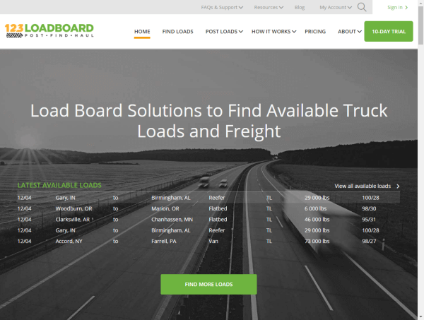 123Loadboard Website Redesign
