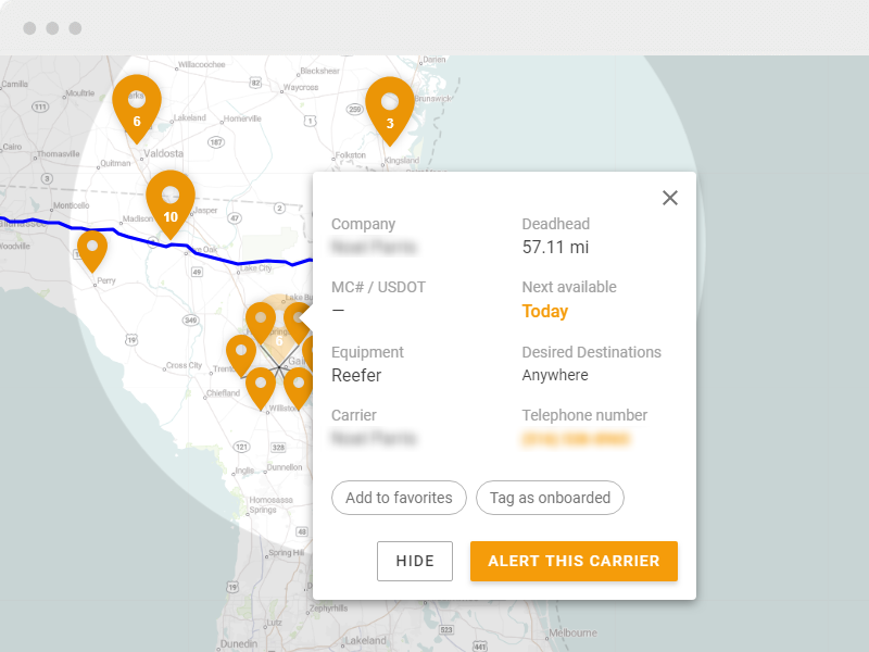 Connect with carriers to haul your loads