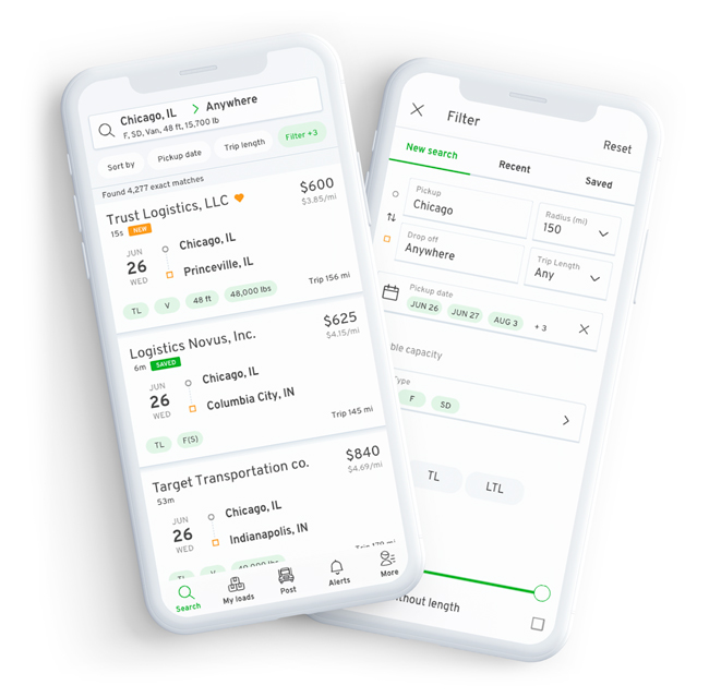 Free Load Board Mobile App to Find Loads and Truck Freight for iOS